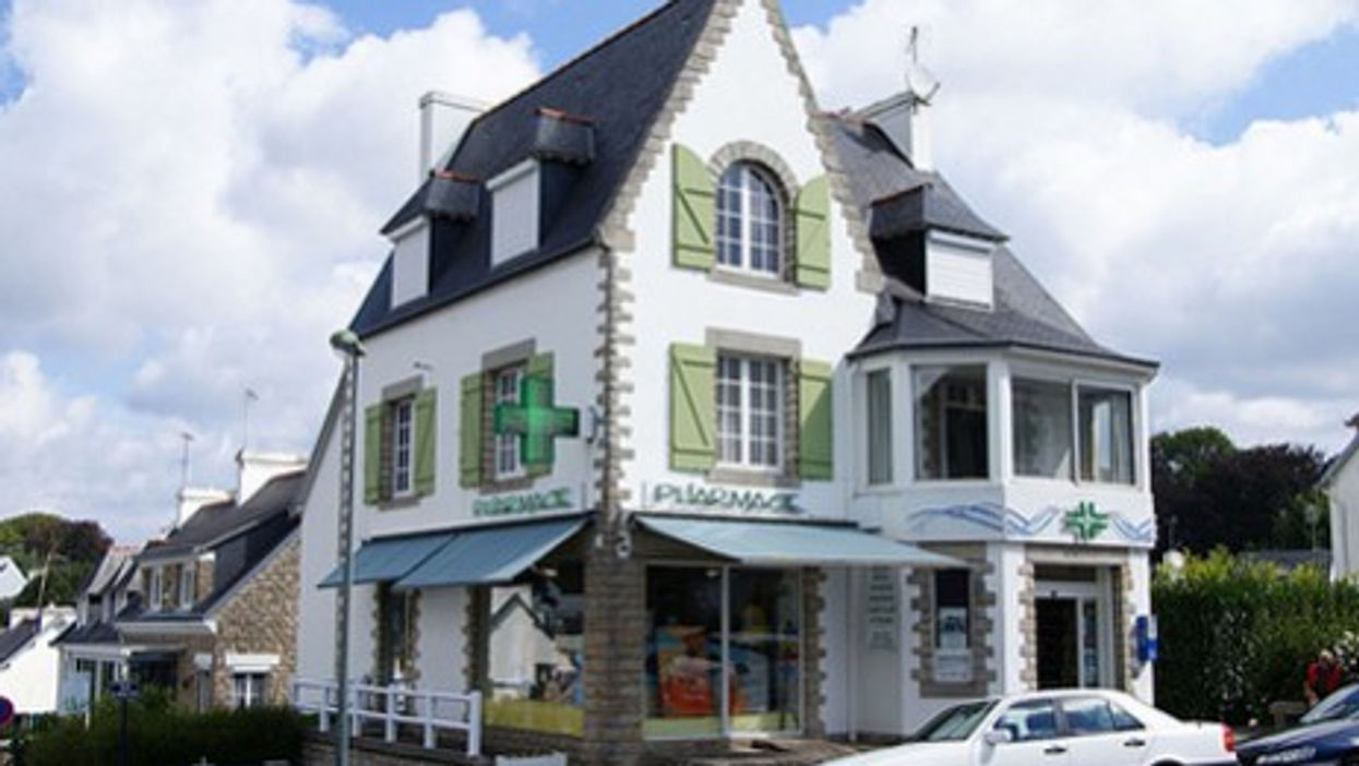 A small-town pharmacy in Brittany
