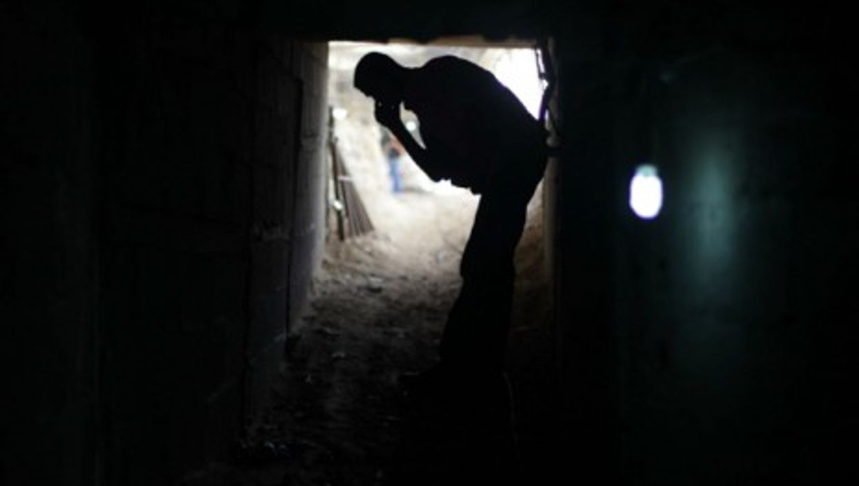 A smuggling tunnel in Rafah, southern Gaza Strip