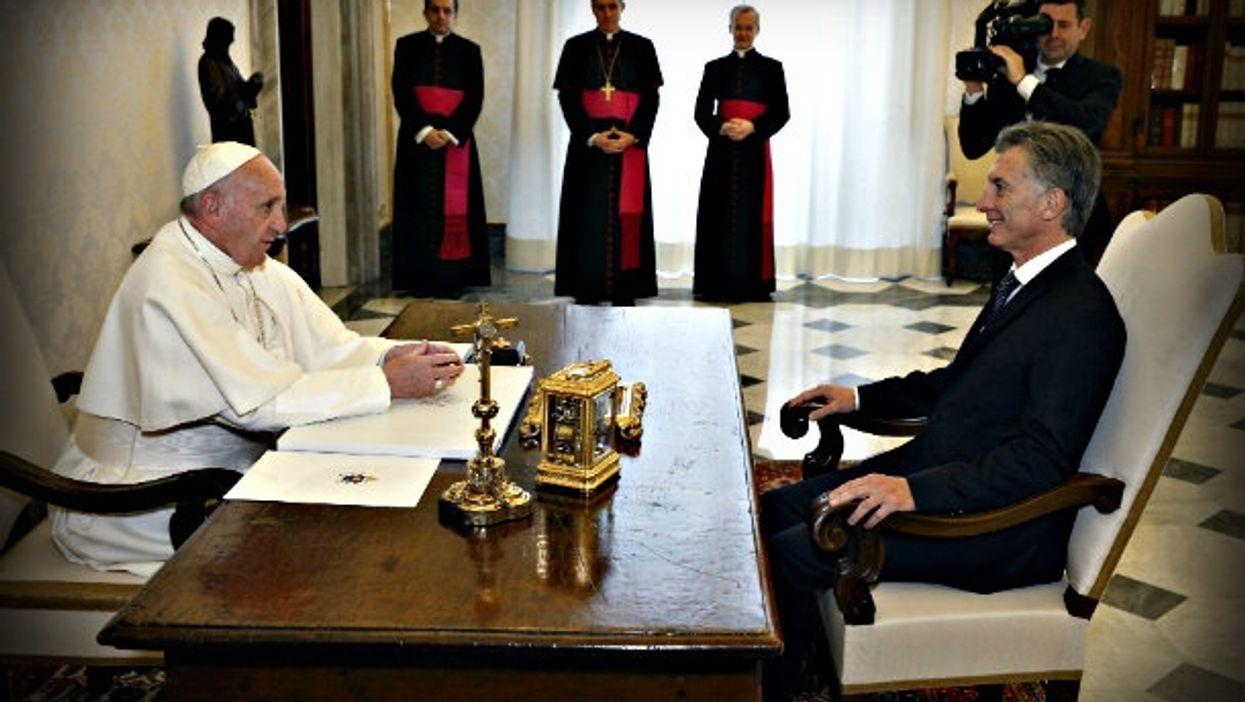 A stiff encounter last February at the Vatican