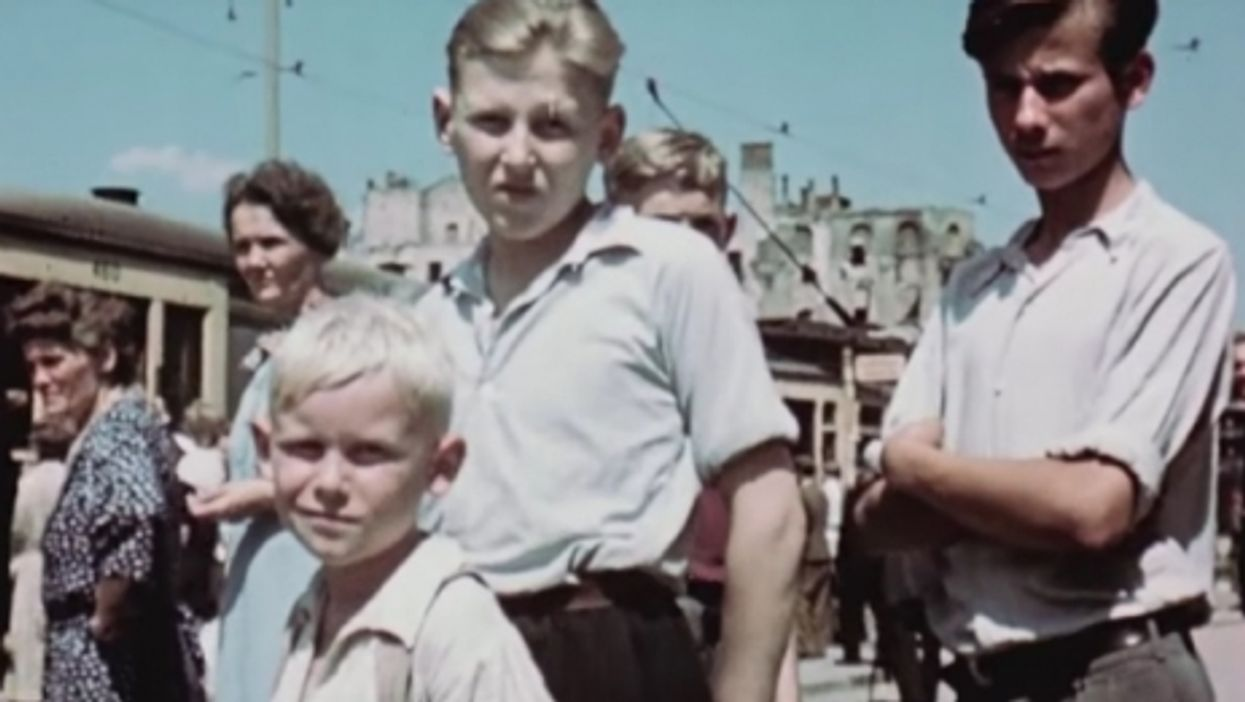 A still from the footage