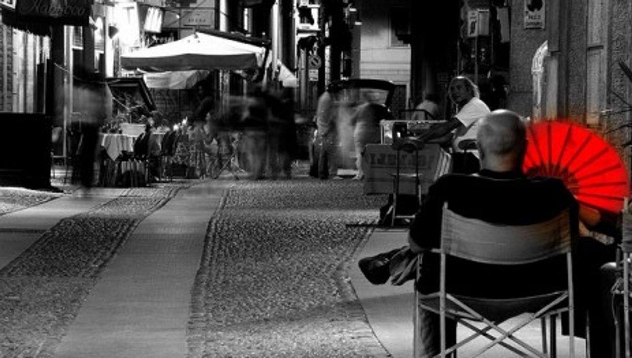 A street scene in Milan, Italy