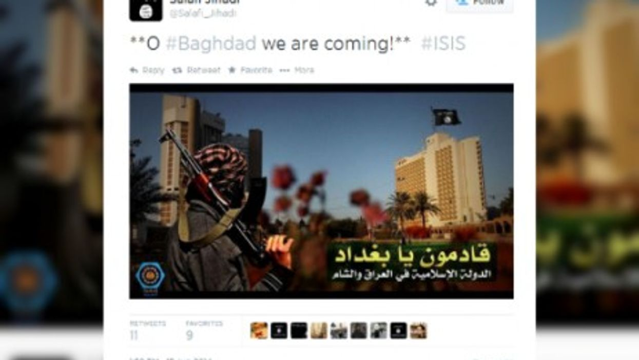 A suspended ISIS-linked Twitter account