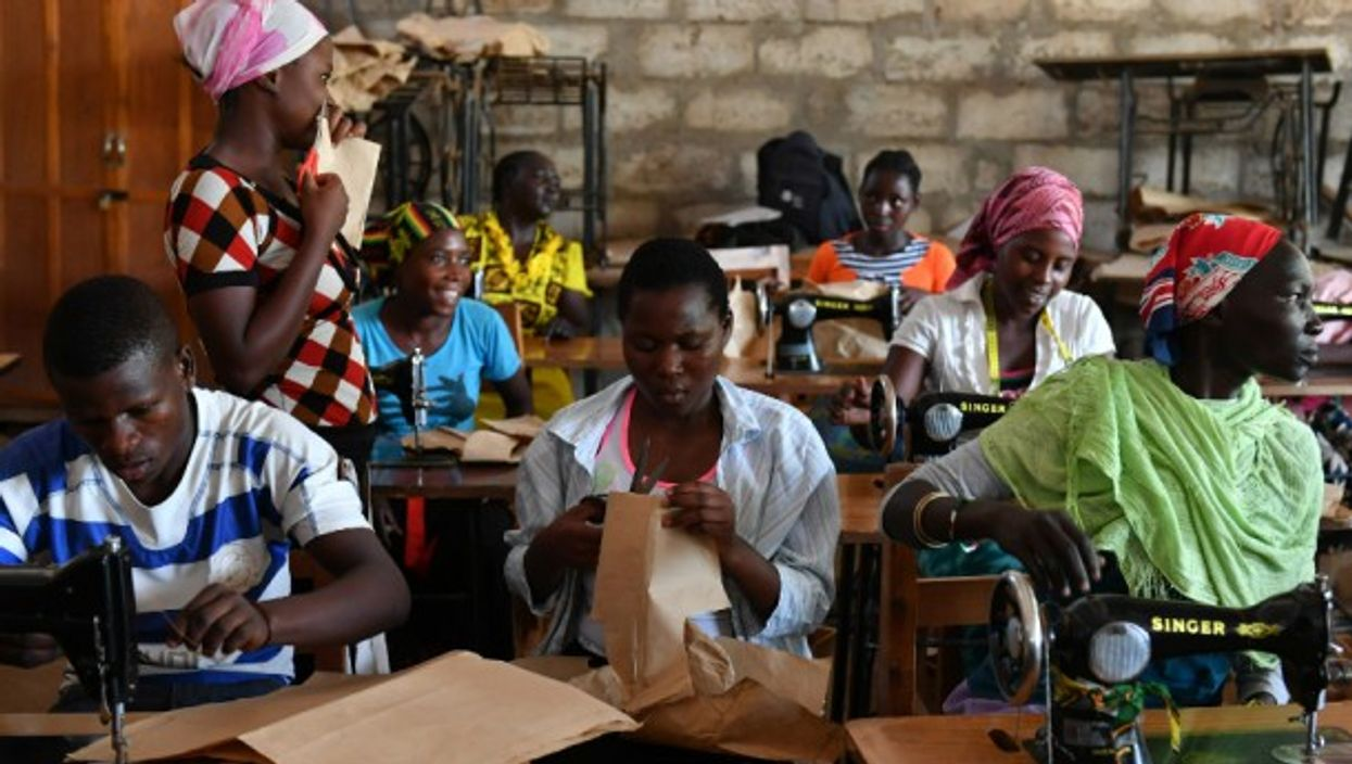 A tailoring class at the Kakuma refugee camp