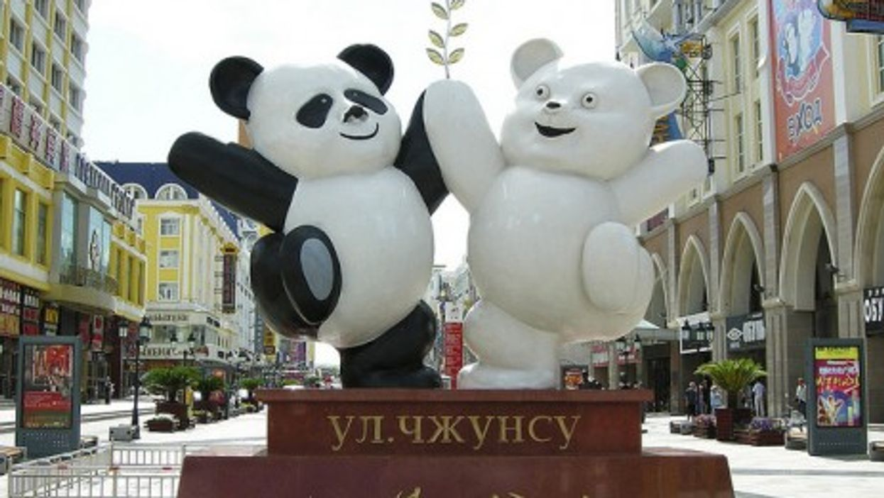 A tale of two bears: In the Chinese city of Manzouli on the Russian border (dobbs383)