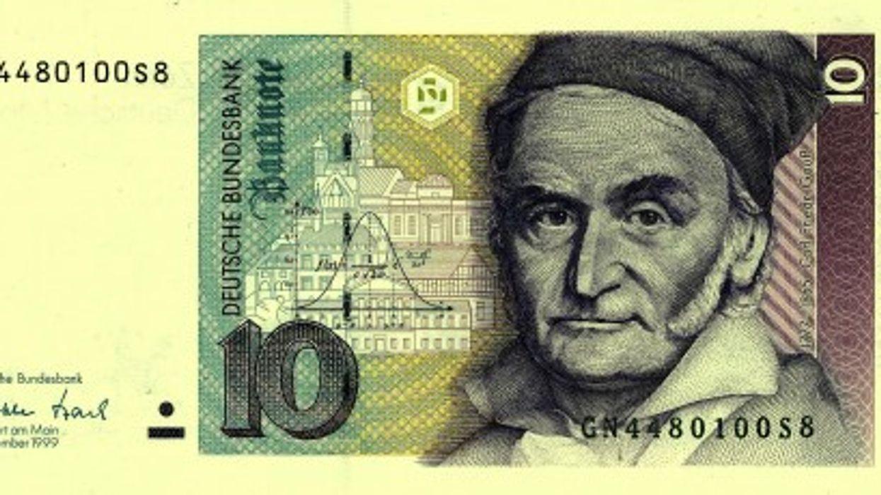 A ten D-Mark bill