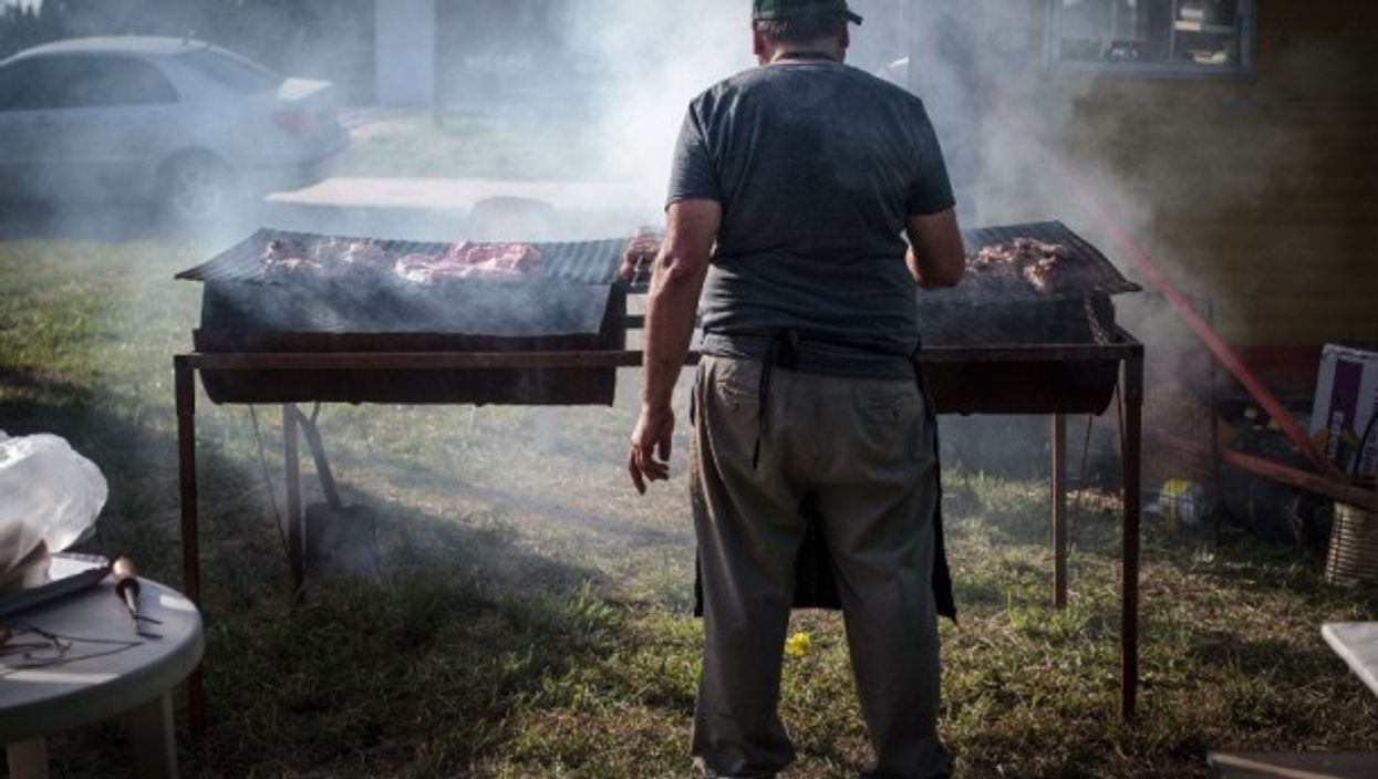 A traditional asado (grill, barbecue) in Buenos Aires