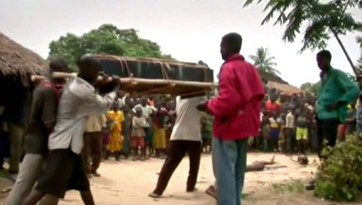 A traditional funeral ceremony in Duakombe Village, DRC.