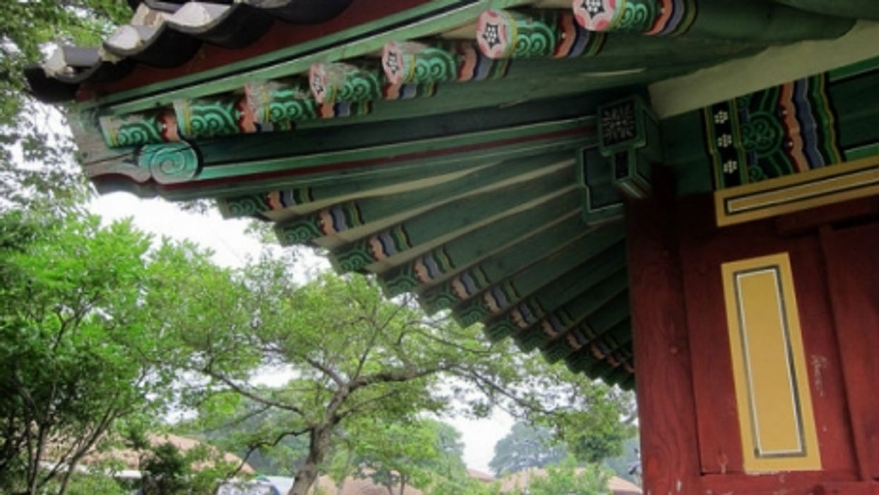 A traditional home on the South Korean island of Jeju