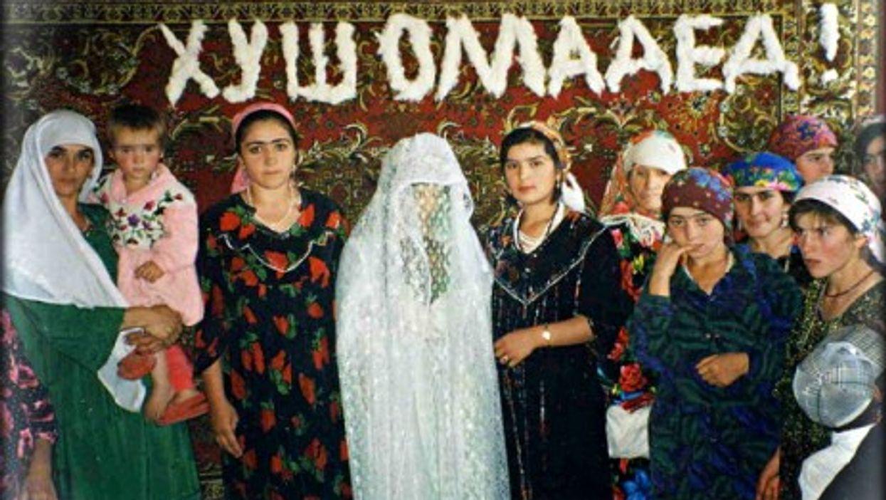 A traditional Tajik wedding