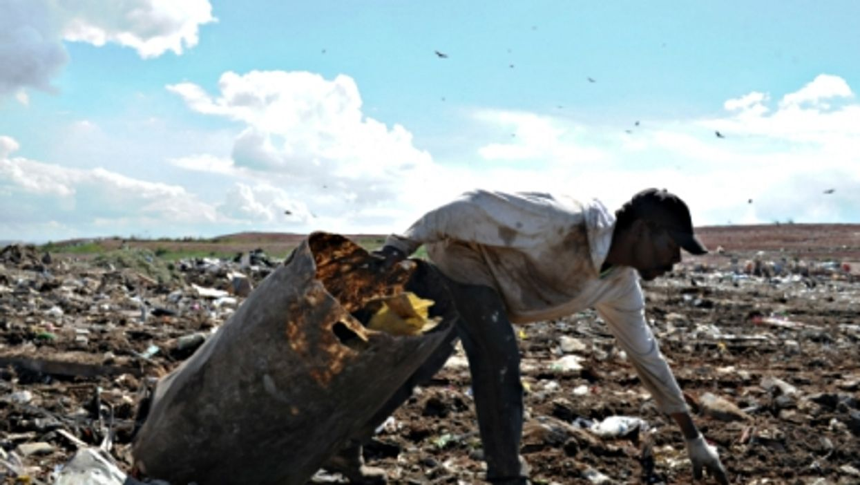 A trash picker at the Gramacho Garden landfill, on the northern outskirts of Rio de Janeiro
