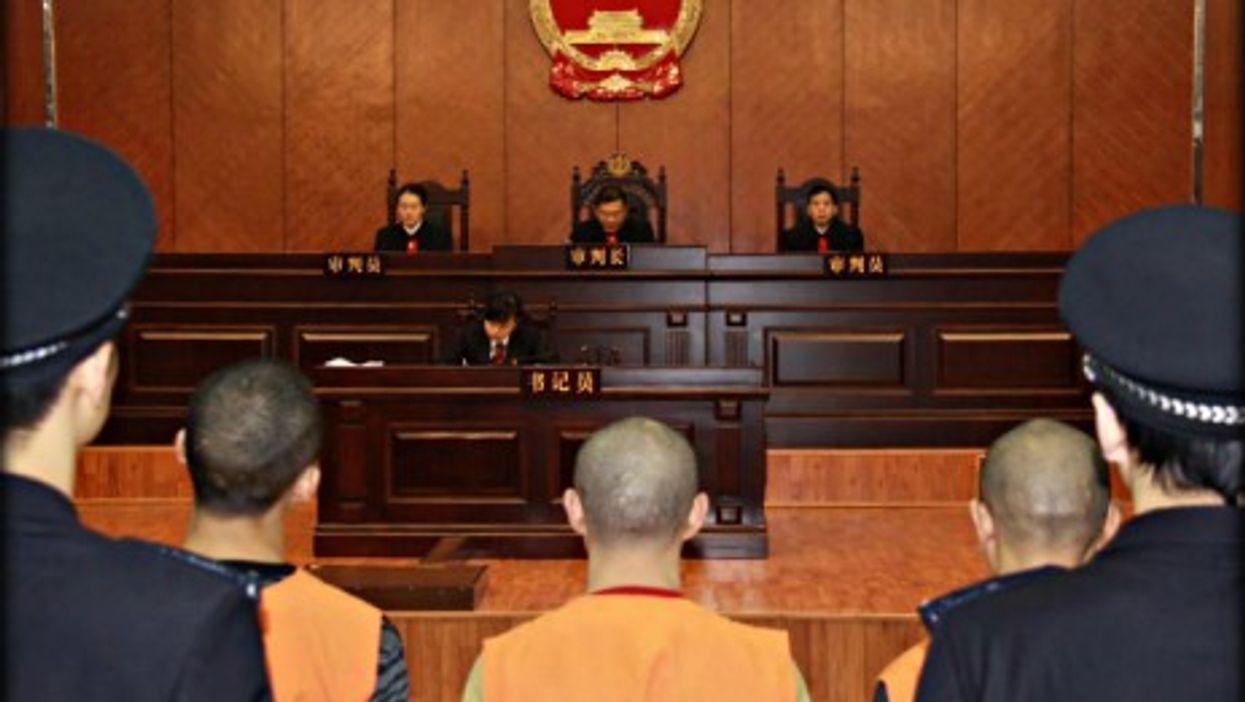 A trial in Chongqing, southwestern China