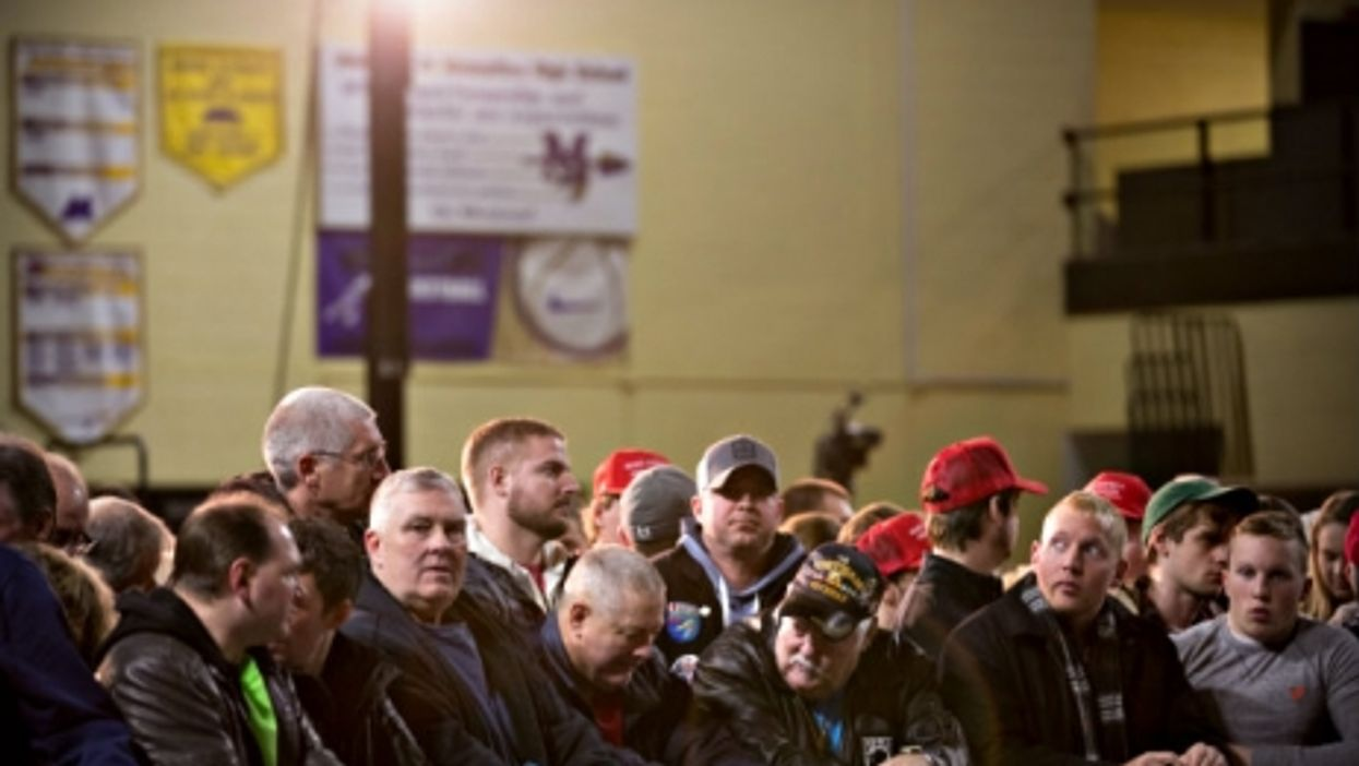 A Trump rally last month in Iowa