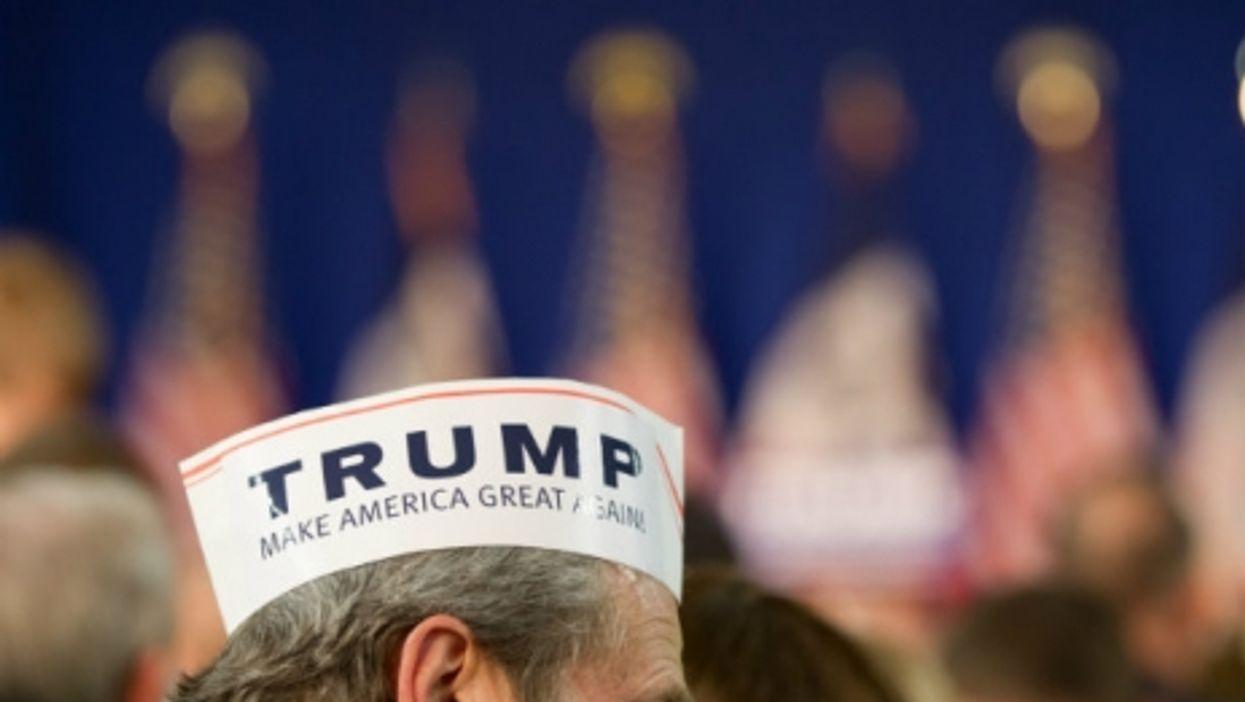 A Trump supporter in Iowa