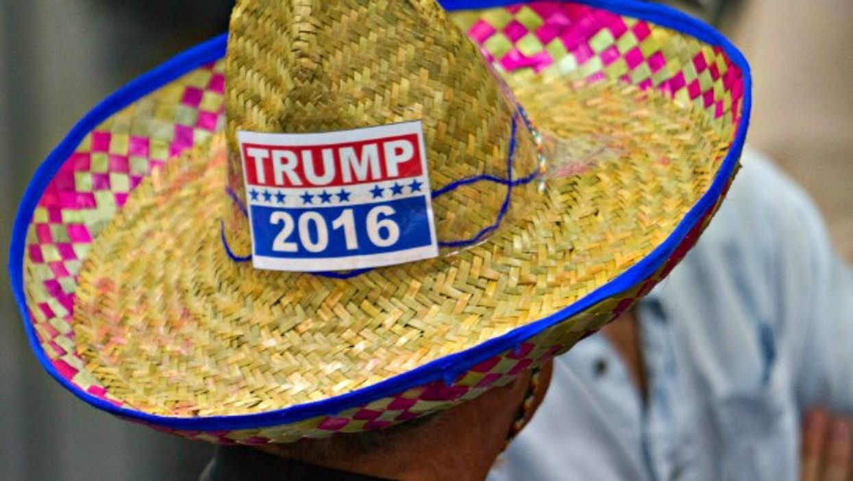 A Trump supporter in San Diego on May 27