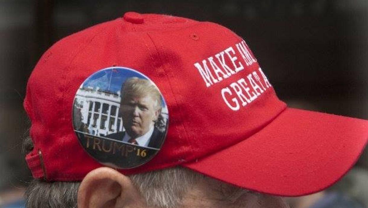 A Trump supporter last spring in Kansas City
