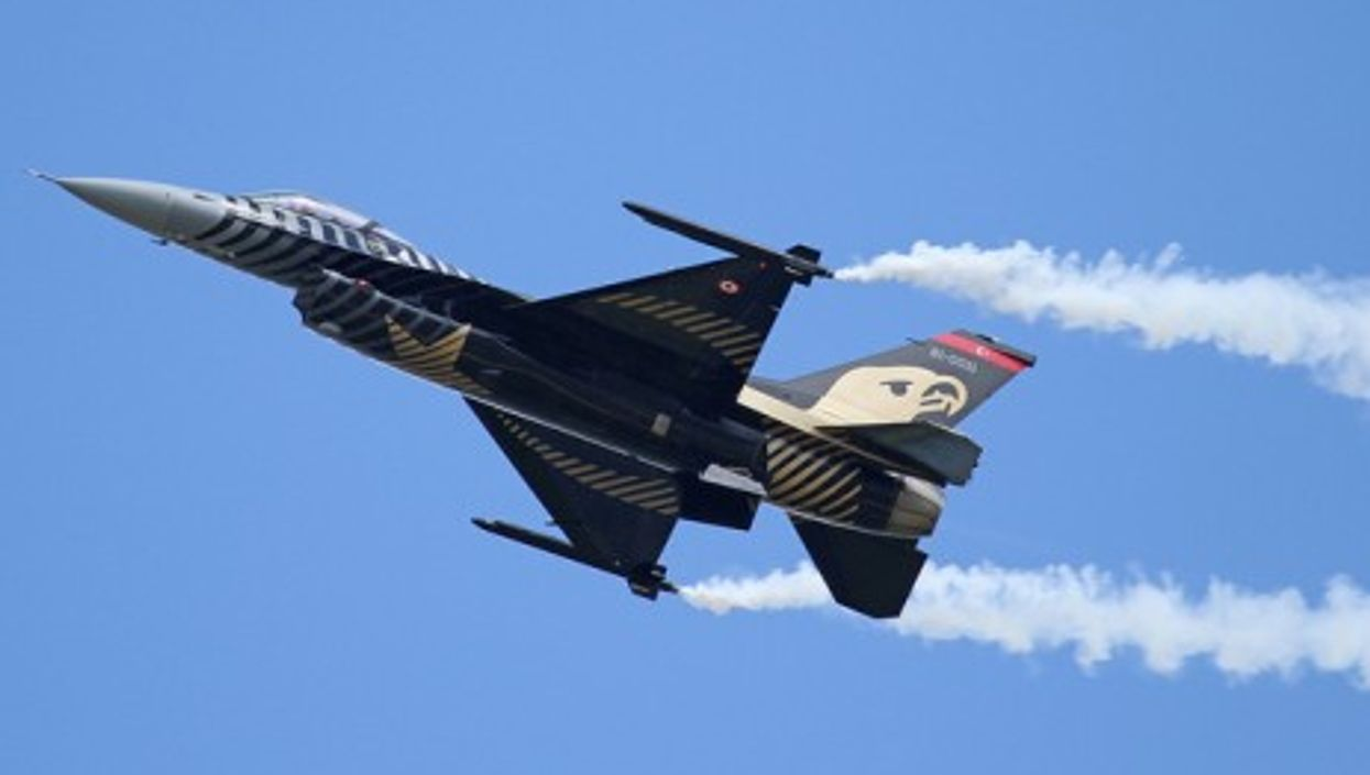 A Turkish Air Force F-16 fighter