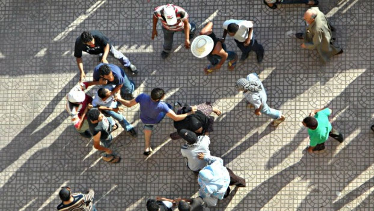 A tussle in Tahrir Square