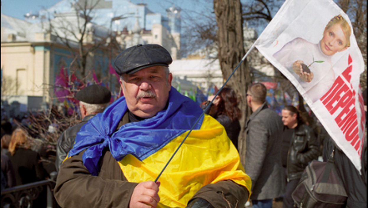 A Tymoshenko supporter in Kiev