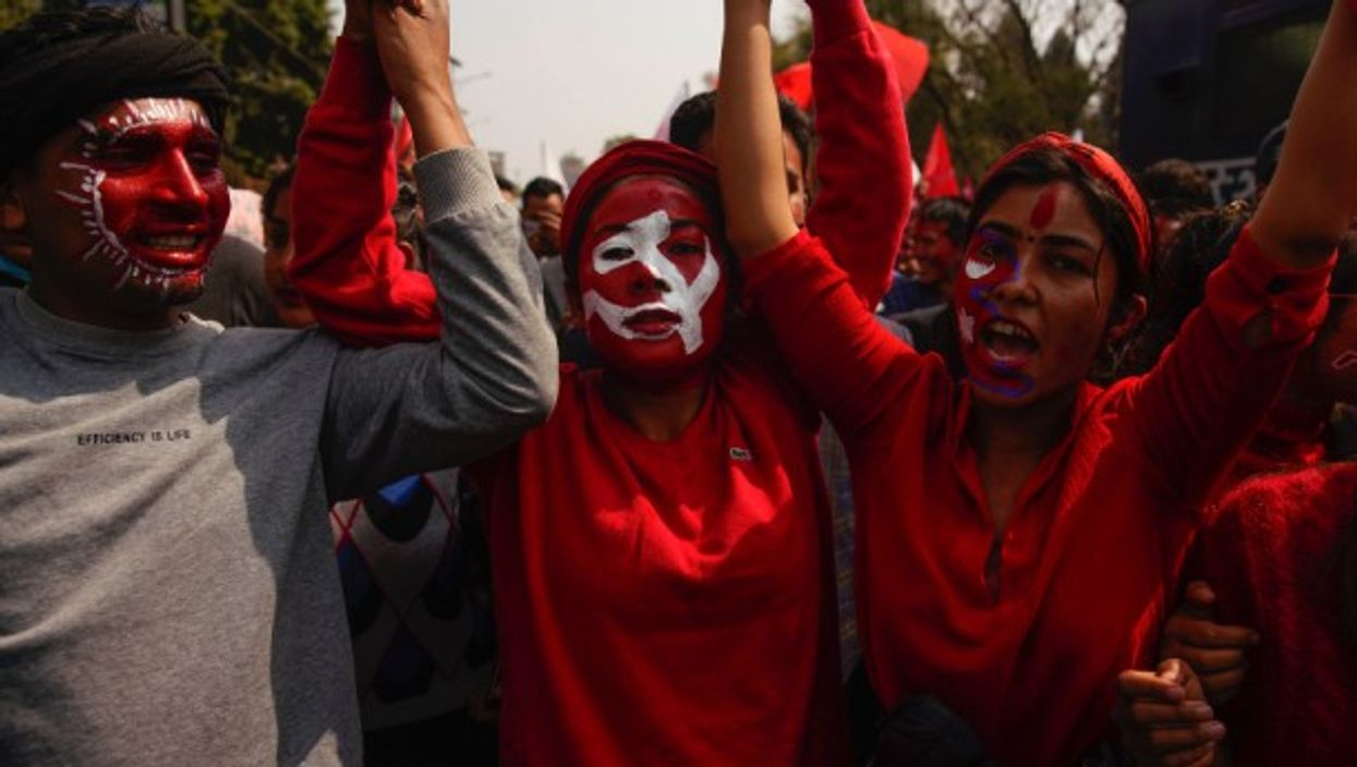 A victory rally following the Supreme Court's decision to order the reinstatement of the Parliament in Kathmandu