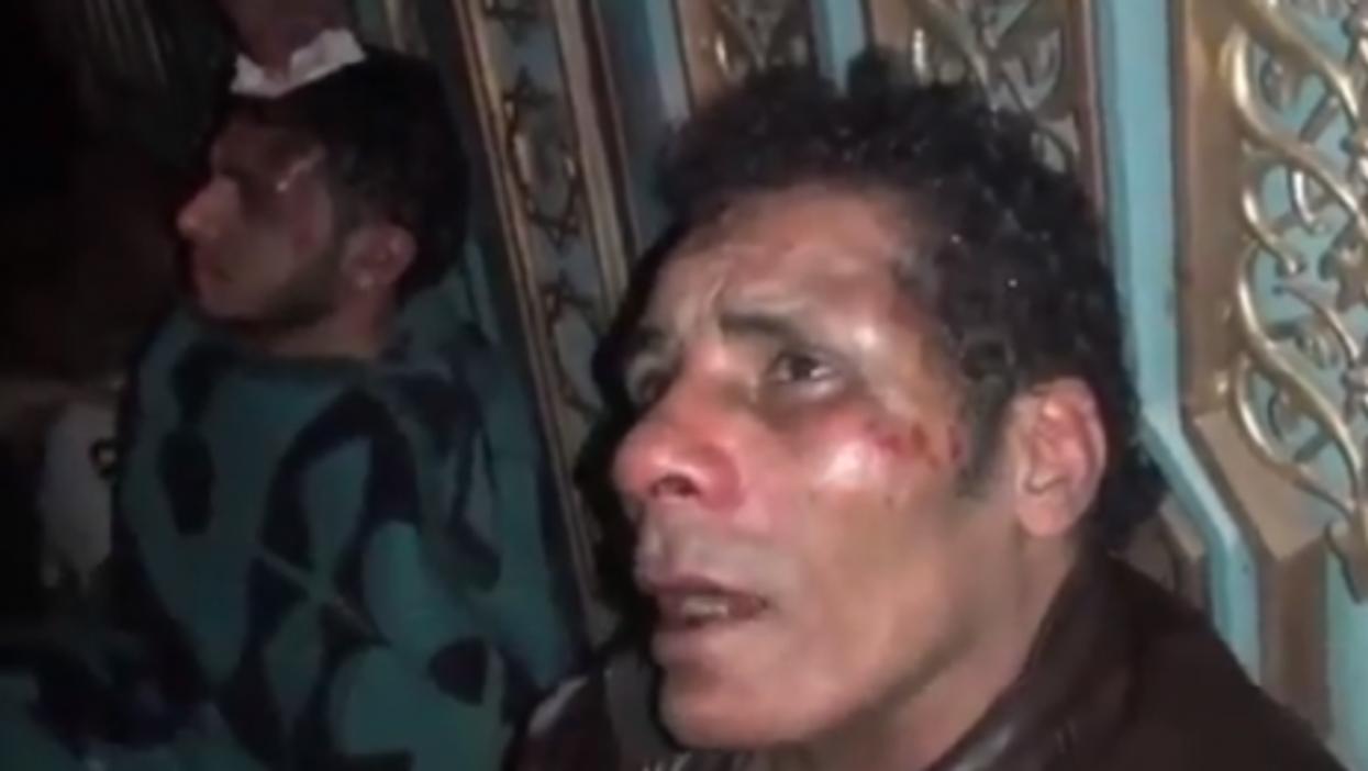A video capture of two men in Cairo who say they were beaten by Muslim Brotherhood gangs last week