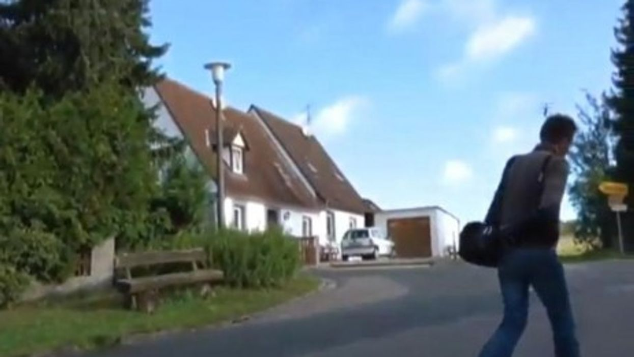 A video image of the family house in Willmersbach, Bavaria (DAPD)