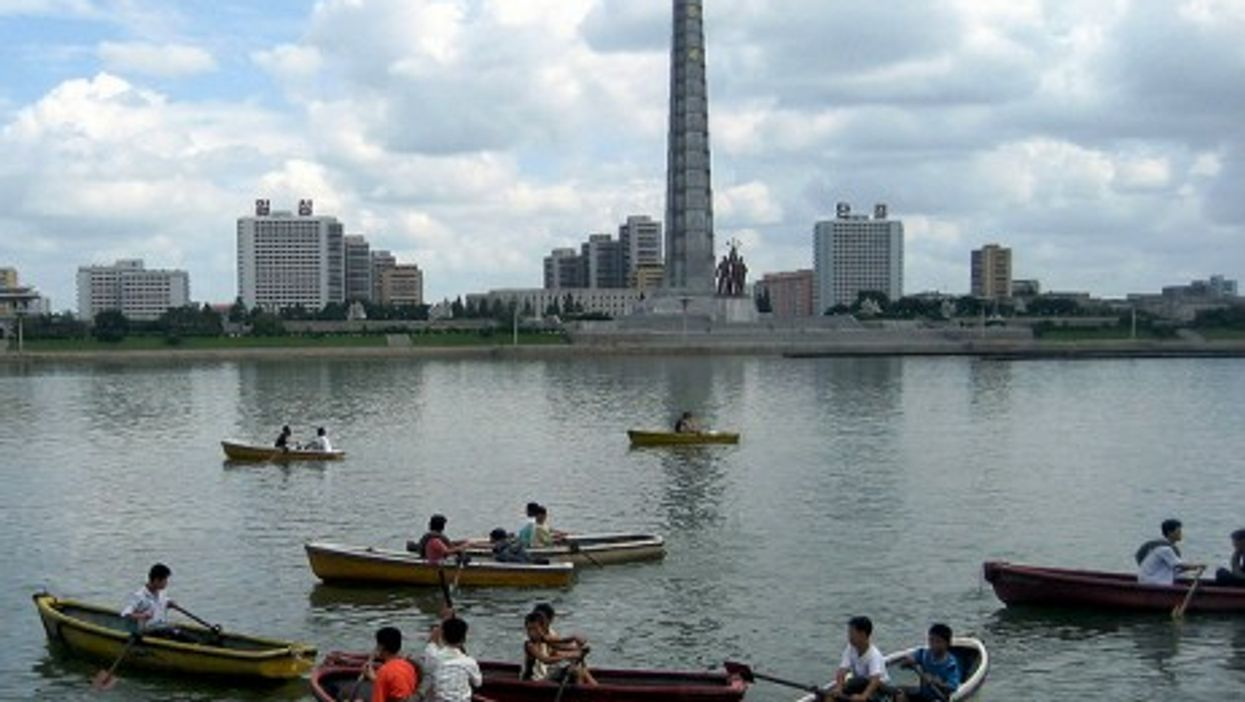 A view from Pyongyang's Taedong River (David Stanley)