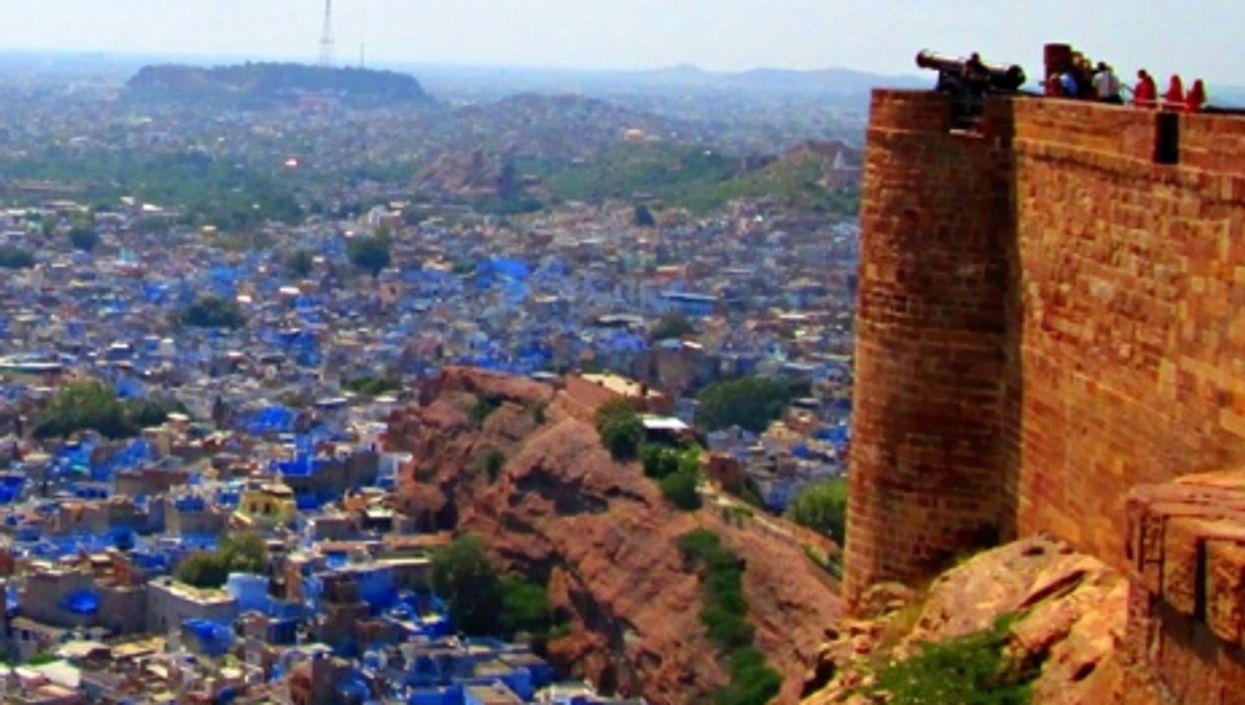 A view of Jodhpur, India's blue city.