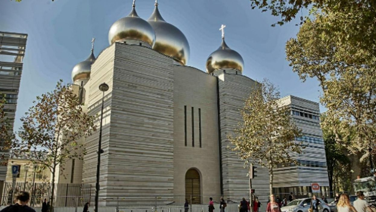 A view on the Orthodox cathedral in Paris