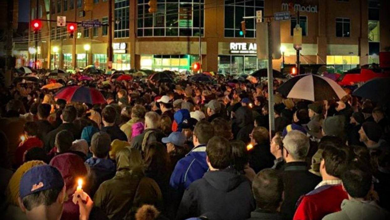 A vigil Saturday night in Pittsburgh