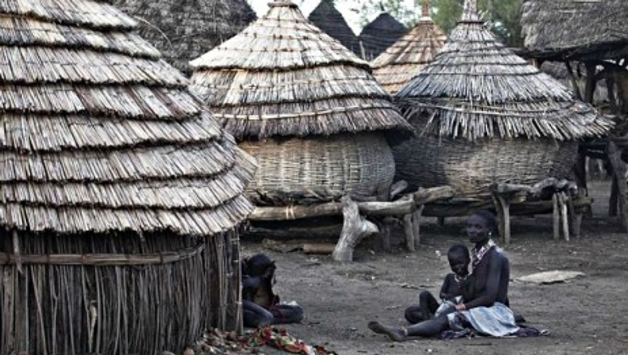 A village in South Sudan. One third of the country's population is facing severe famine risks.