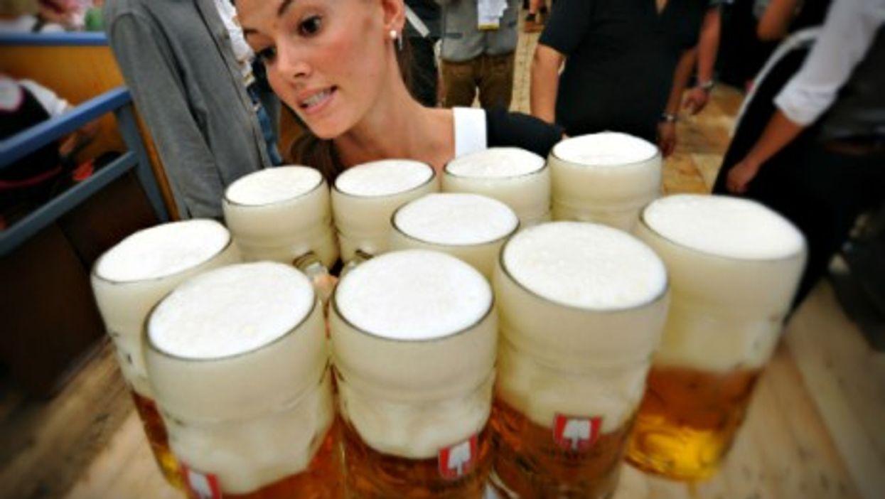 A waitress at Munich's Oktoberfest