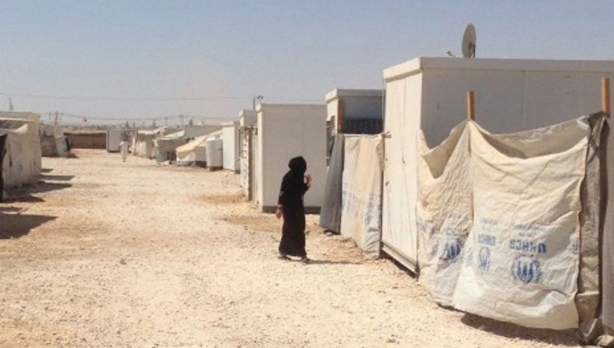 A woman at the Zaatari camp for Syrian refugees in Jordan