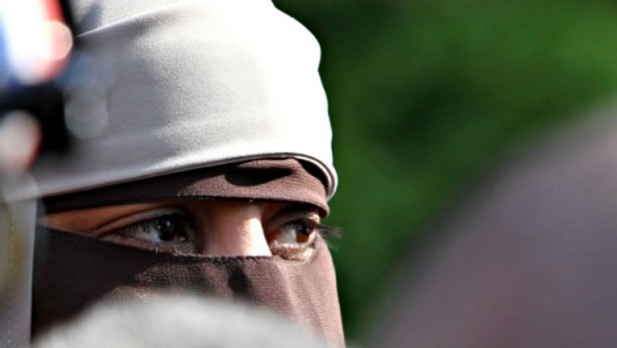 A woman wearing a niqab in France