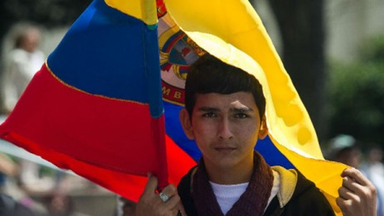 A young Colombian during the ''March for Peace'' in Bogota, on Apr. 9, 2013.