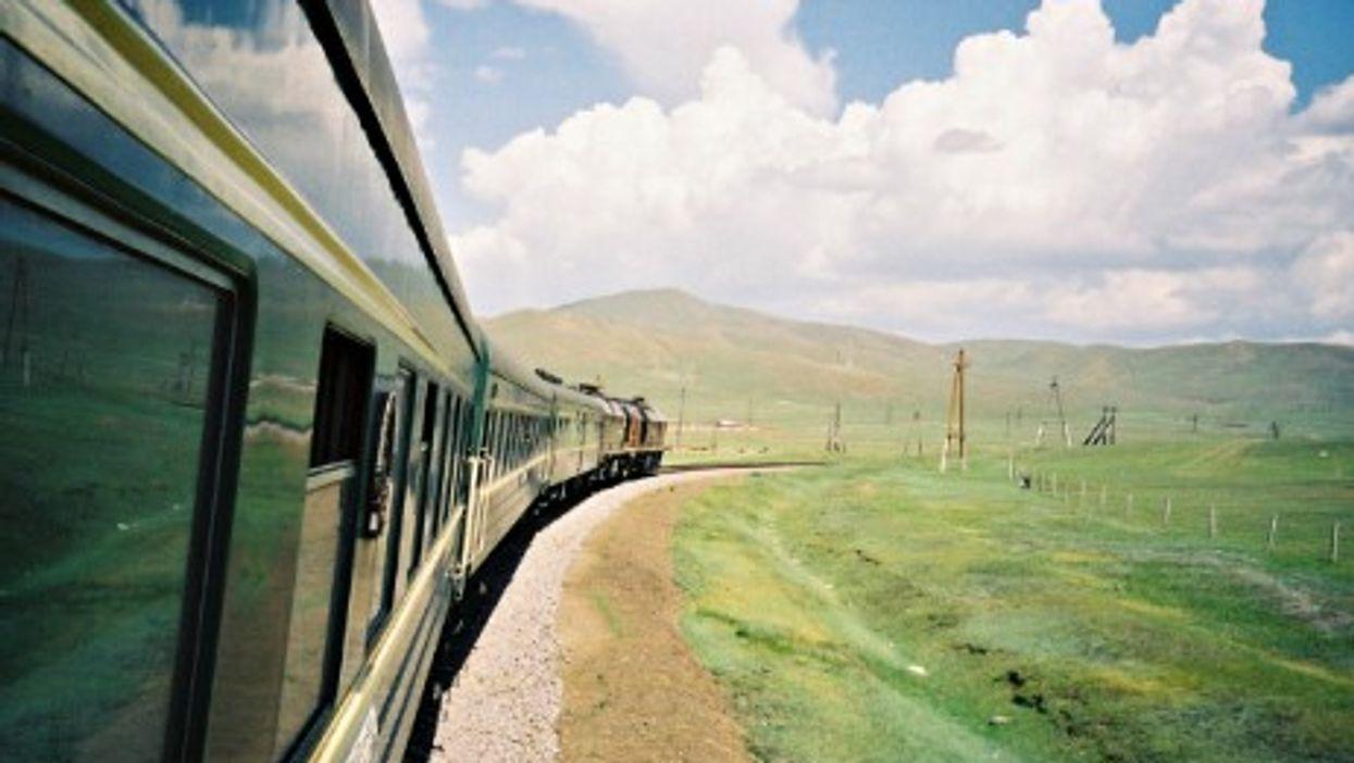 Aboard a Trans-Siberian train