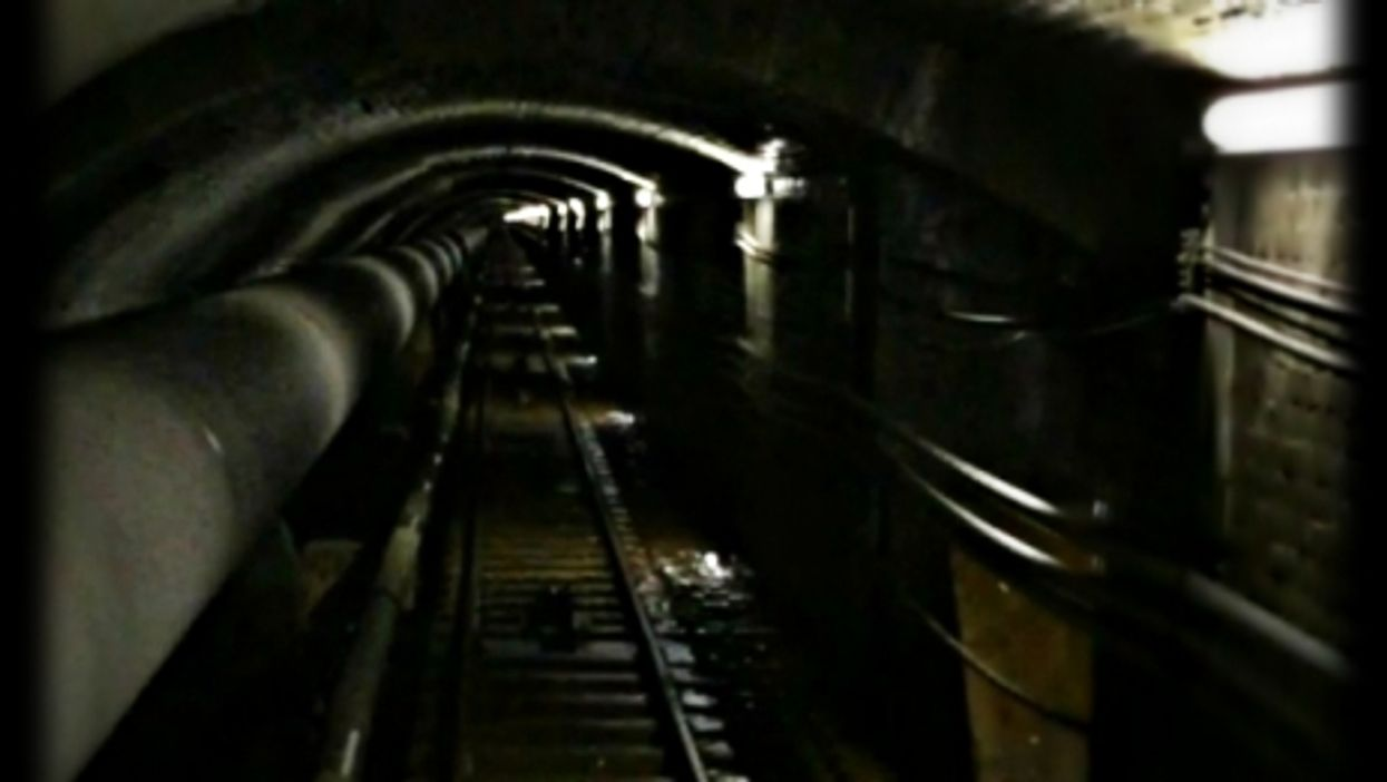 Aboard the funicular that goes from the Miéville power plant to the Salanfe dam