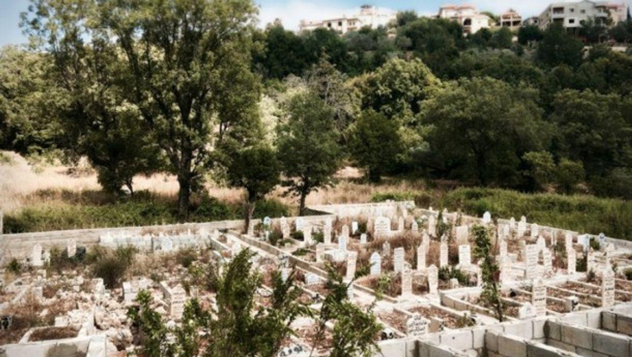 Abu Abdo's cemetery for Syrians in Daraya, Lebanon