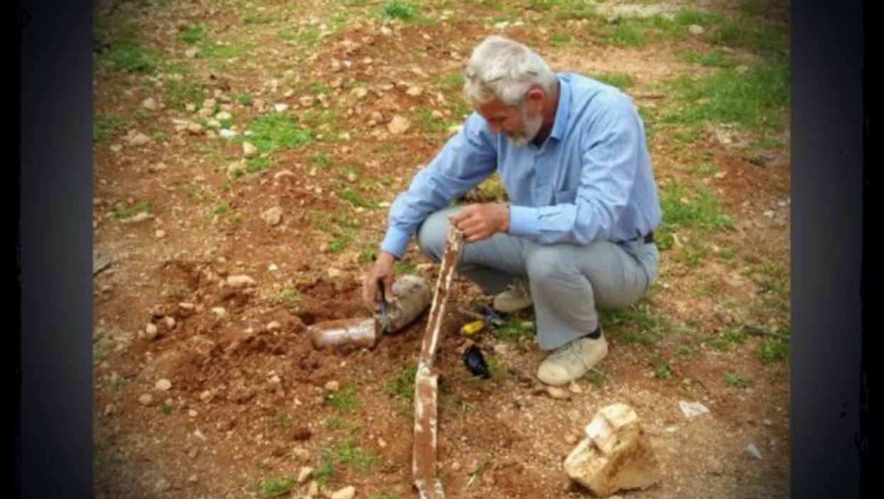 Abu al Fadl and one of the circa 3,500 mines he cleared