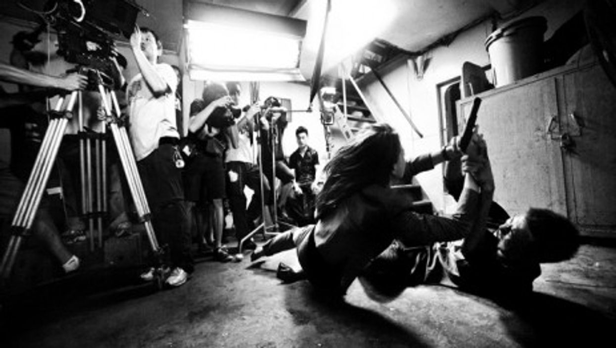 Action scene in Guangzhou