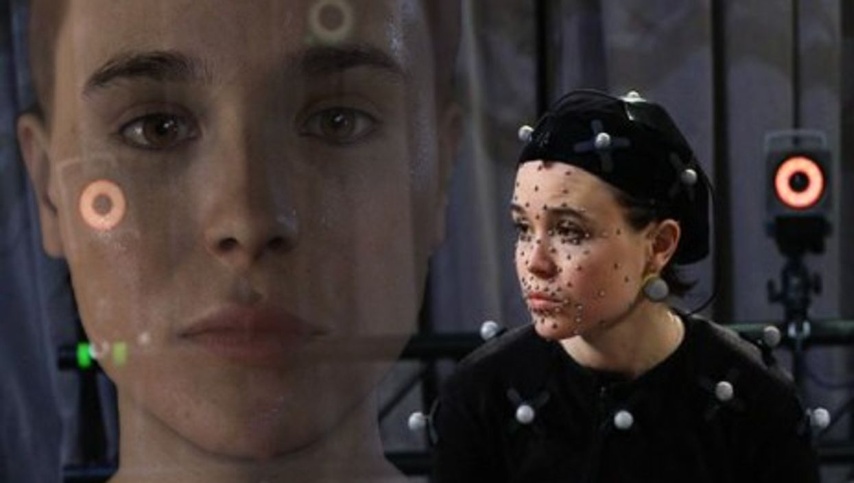 """Actress Ellen Page and her digital alter ego in the video game """"Beyond: Two Souls"""""""