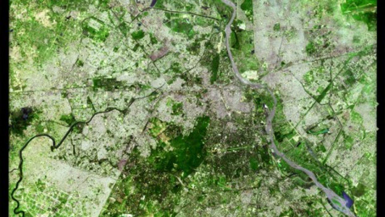 Aerial view of New Dehli