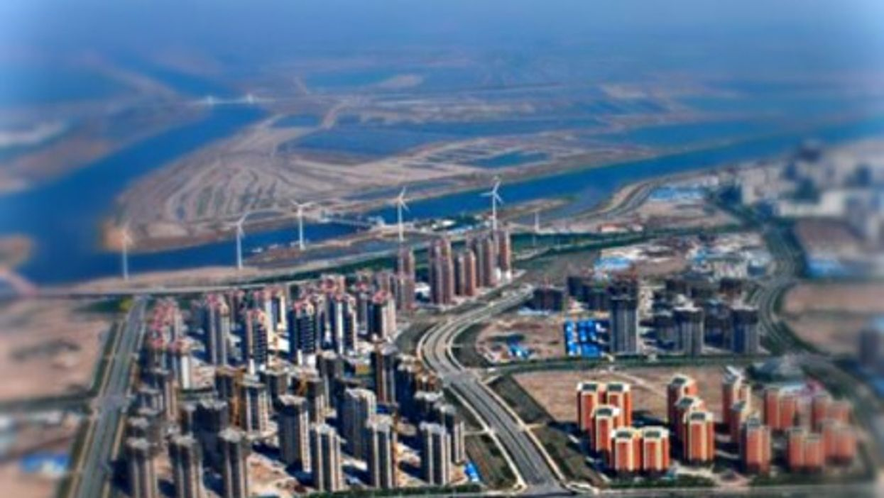 Aerial view of Sino Singapore Tianjin Eco-City