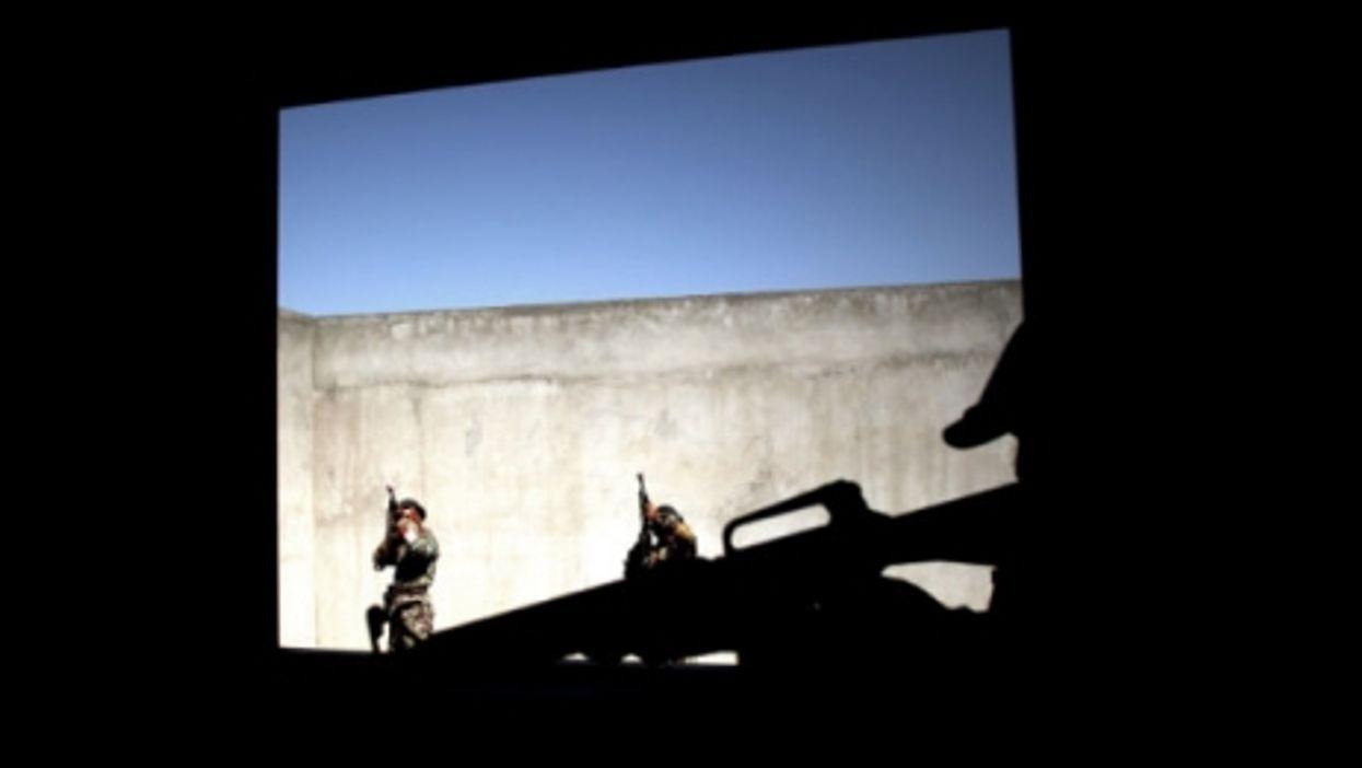 Afghan troops training in Kabul