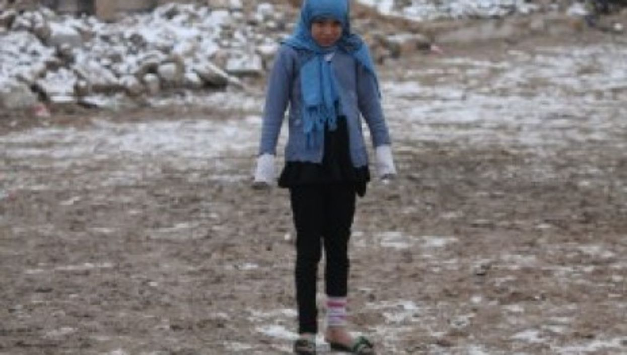 After a recent snowfall in Aleppo