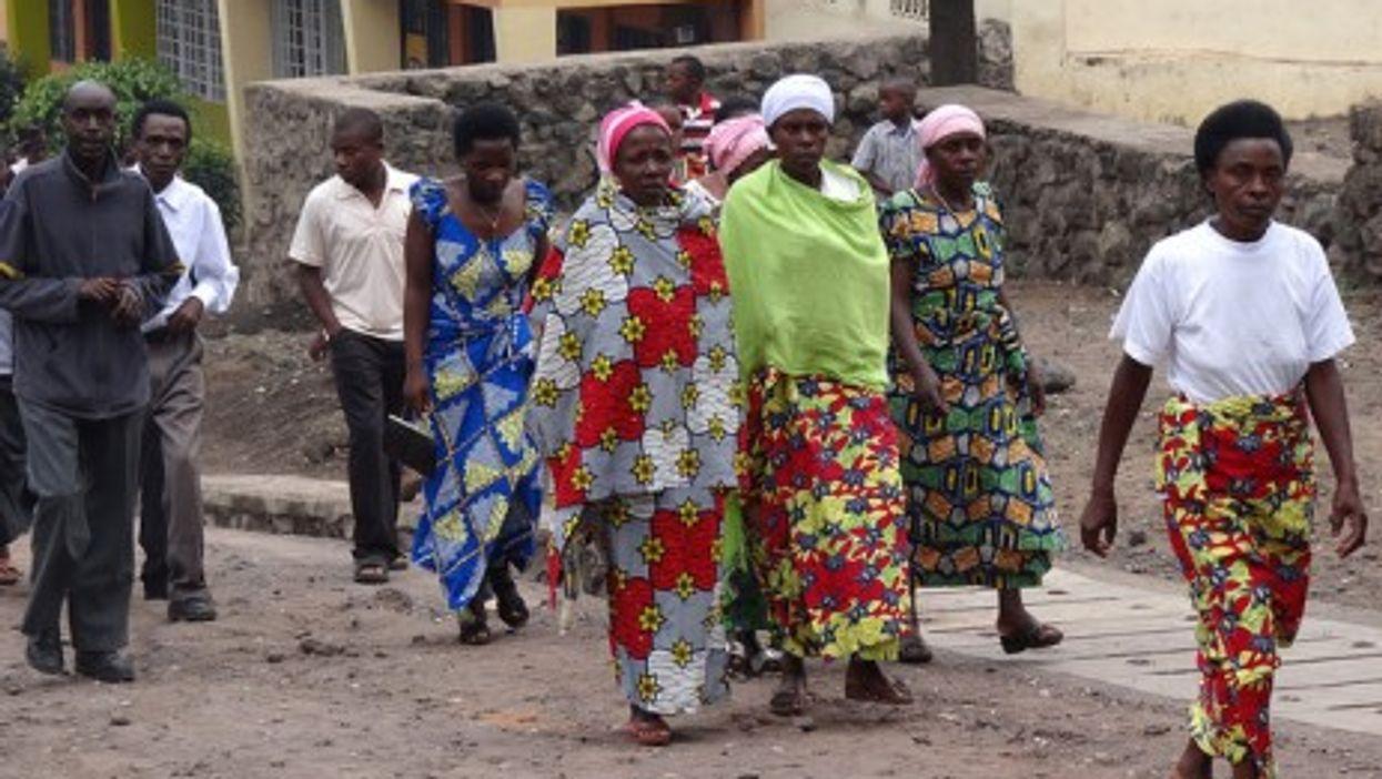 After church, in Rwanda
