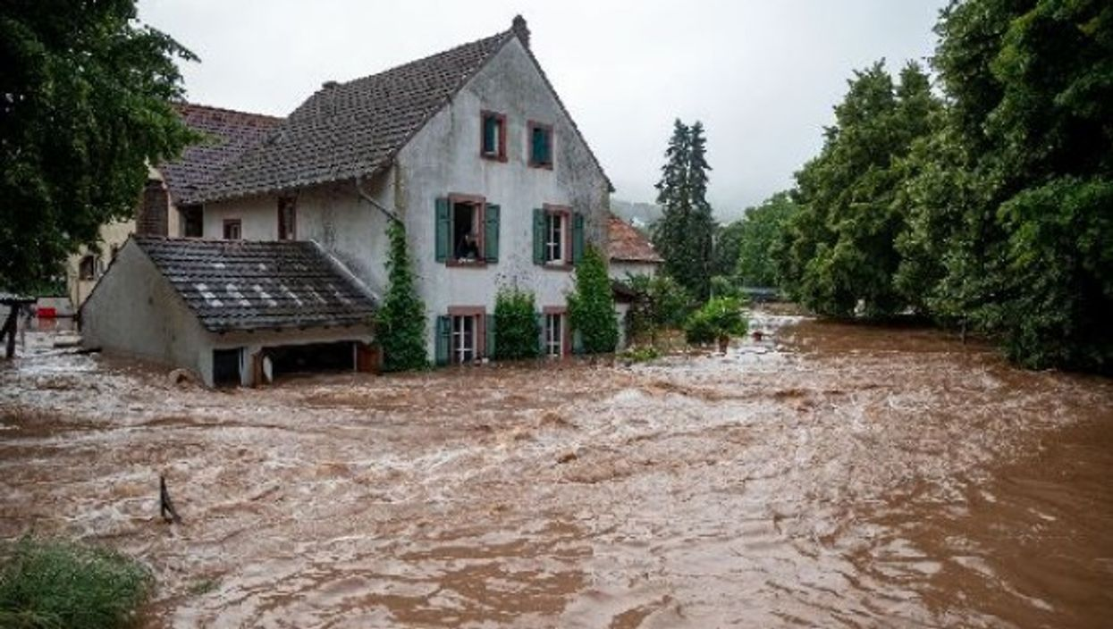 After huge storms, the banks of the Kyll in Germany have flooded adjacent towns. Villages in Belgium and The Netherlands are also experiencing severe flooding.