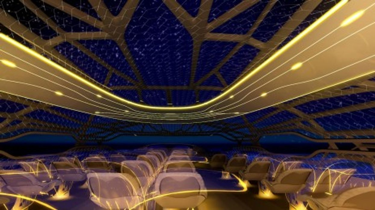 Airbus's vitalizing zone by night - sit back and enjoy the night sky.