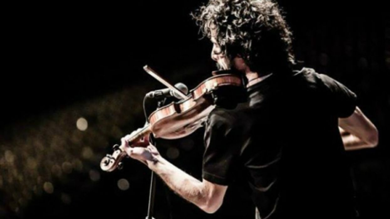 Alaa Arsheed playing in Florence, Italy