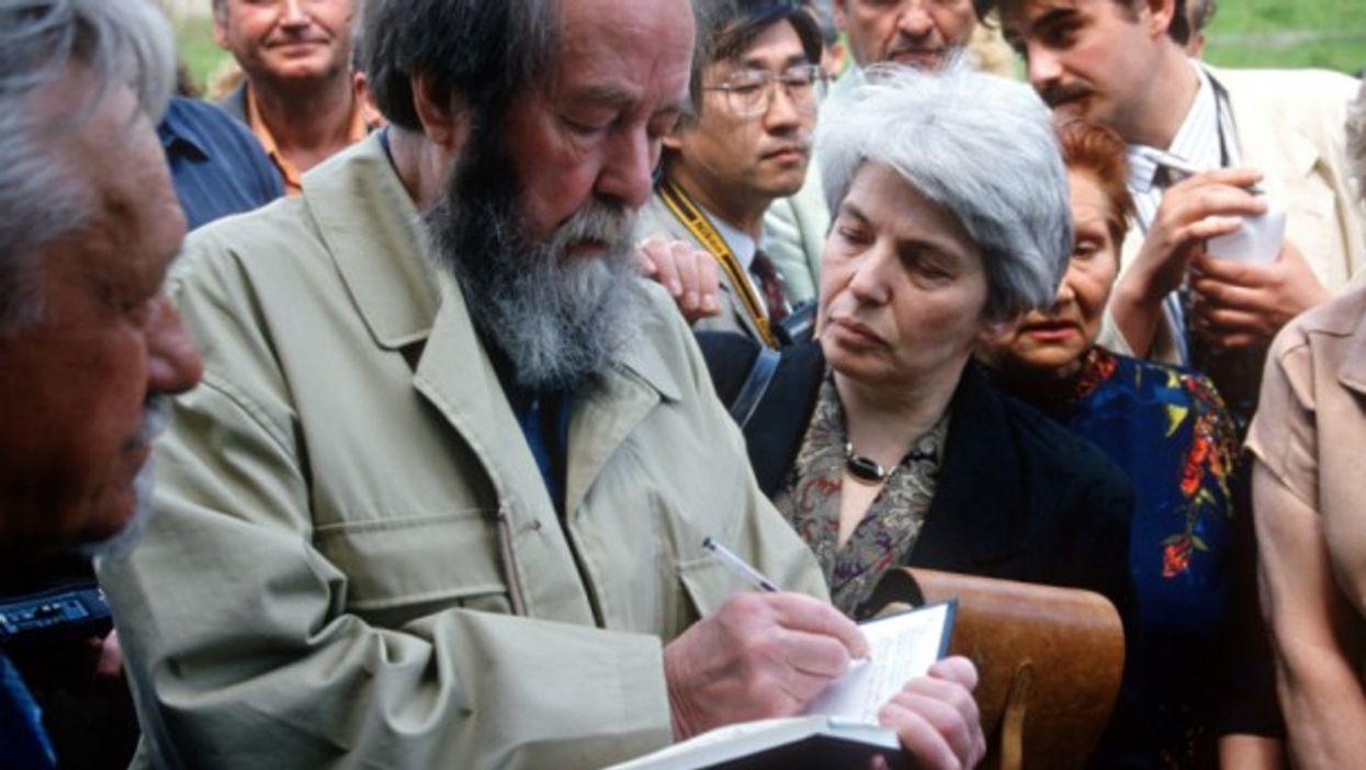 Aleksander and Natalia Solzhenitsyn in 1994