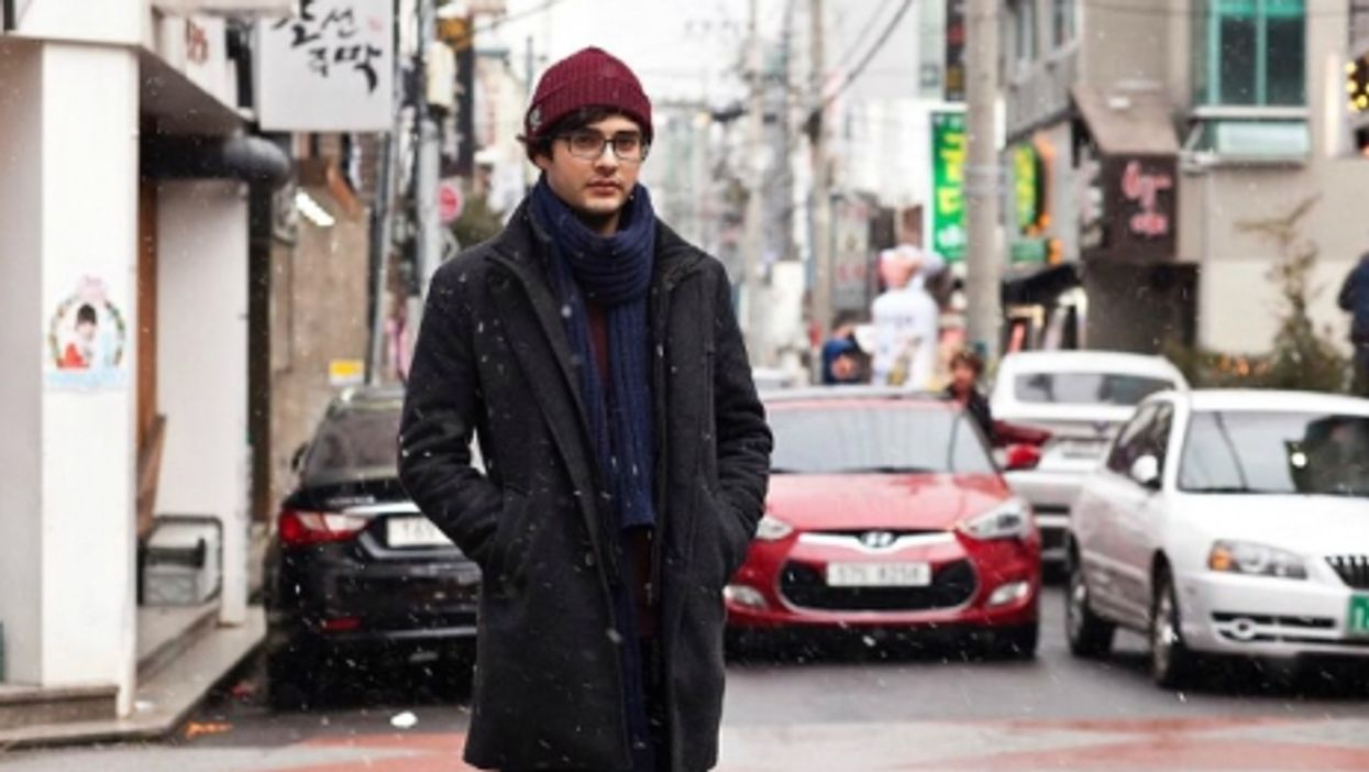Aleppo-born Ahmed Lababidi on Jeju Island